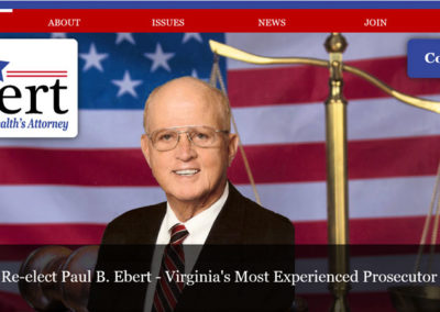 Paul Ebert Website by Fairfax Design Solutions